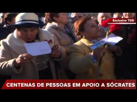 GRITOS DE APOIO A SÓCRATES EM ÉVORA
