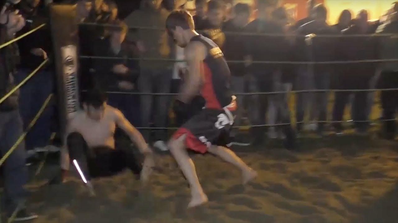 Dude destroy one hit fighter MMA!!!