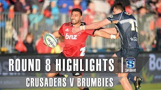 Crusaders v Brumbies Rd.8 2019 Super rugby video highlights | Super Rugby Video Highlights