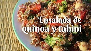 Ensalada quinoa y tahine