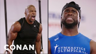 Terry Crews: Kevin Hart Tried To Play Mind Games With Me  - CONAN on TBS
