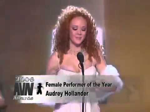 AVN AUDREY HOLLANDER WINS FEMALE PERMORMER 2006