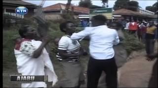 Ajabu: Woman carrying baby slaps husband