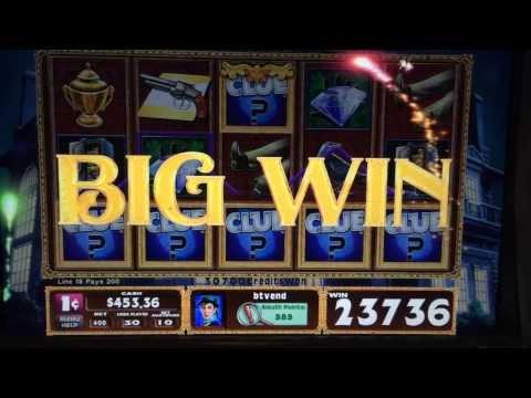 Clue Slot Machine Bonus – Ballroom – Big Win!!!