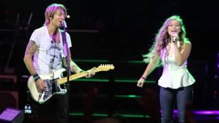 """""""We Were Us"""" Keith Urban & Gracie Aufderbeck CINCY 7/31/14"""