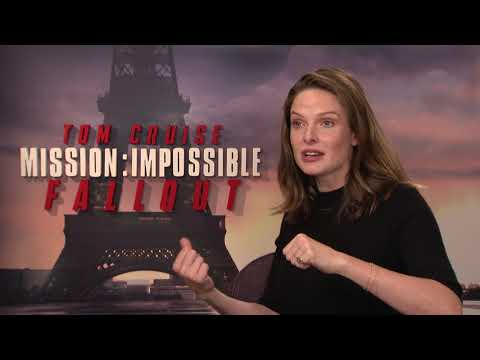 Mission: Impossible - Fallout || Rebecca Ferguson Paris Junket Interview|| SocialNews.XYZ