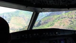 Paro Bhutan  city photos : Actual Paro Bhutan PBH Landing A319 Cockpit in HD