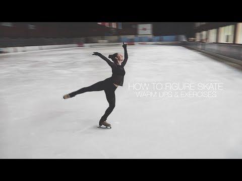 How To Figure Skate ❤ WARM UPS & EXERCISES (видео)