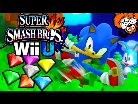 Super Smash Bros 4 Wii U 8-Player Smash! Sonic Duck Hunt Stage Character Unlock Gameplay Walkthrough