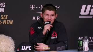 Video UFC 219: Khabib Nurmagomedov Post-Fight Press Conference - MMA Fighting MP3, 3GP, MP4, WEBM, AVI, FLV Juli 2018