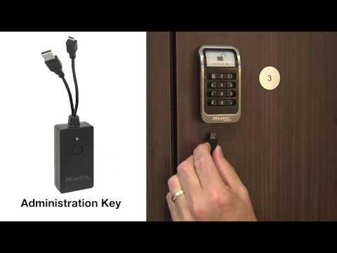 Instrucciones de la llave de administración para cerradura para casillero electrónico incorporada