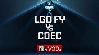 LGD Forever Young vs CDEC, ESL One Genting Quals, game 1 [LightOfHeaveN, Adekvat]