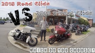 5. 2018 Road Glide Special VS 2018 Street Glide Special, Which to choose. Why.