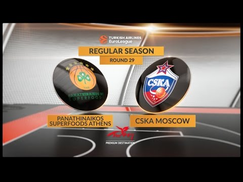 EuroLeague Highlights RS Round 29: Panathinaikos Superfoods Athens 85-80 CSKA Moscow