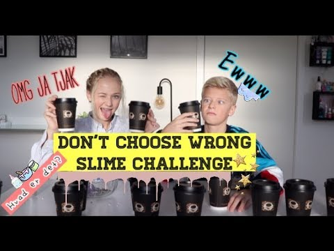 Don't choose the wrong coffee cup slime challenge //(dansk) ft, Oscar