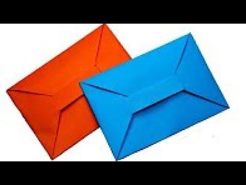 Cómo hacer un SOBRE para cartas ¡Facil de hacer! - Origami Envelope