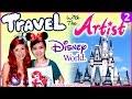 Download Video Travel Video - Artist Draw + Meet Disney Characters, Princesses + Parades - VLOG 2