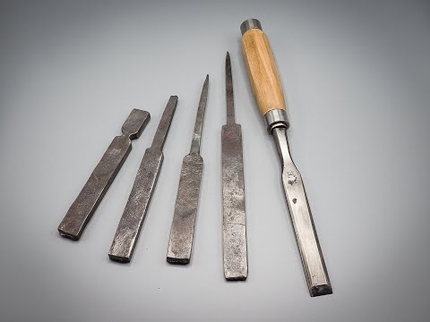 How to Forge a Carving chisel Part 2 ed 2