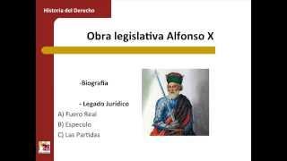 Umh1193sp 2013-14 Bloque 2.2.4 Obra Legislativa Alfonso X El Sabio