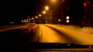 New Year driving from Moscow to Ryazan 31/12/2012-01/01/2013 (timelapse 4x)