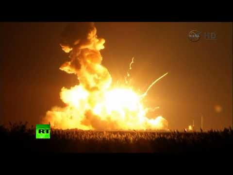 RT - An unmanned rocket exploded shortly after takeoff Tuesday evening on Virginia's eastern shore. Orbital Sciences' Antares rocket was carrying thousands of pounds of equipment to restock...