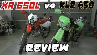 7. Kawasaki KLR 650 vs Honda XR 650l - Review