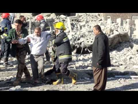 Suicide Bomber Attack on Iraq Police Headquarters Kills at least 33