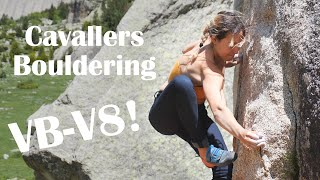 Best bouldering spot in the Pyrenees!! 🧗♀️⛰️Climbing moderates in Cavallers (VB-V8/ 3c by Anna Hazelnutt