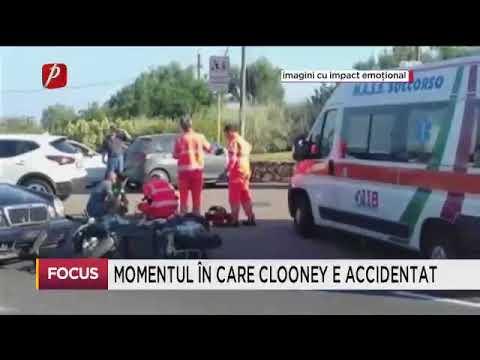 Momentul în care Clooney e accidentat