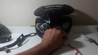 3. Mascara Farol Com Pisa Universal Para Motos