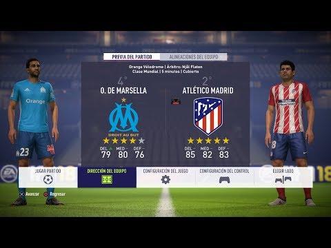 Olympique De Marsella Vs Atlético De Madrid (PS4 GamePlay) Final Europa League Lyon 17/18 - FIFA 18