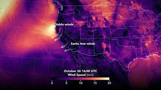 Winds over the Western United States, Oct. 28-30, 2019 by NASA