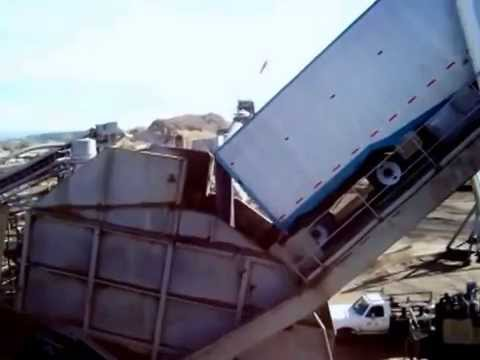 Truck Tipper at Biomass Plant