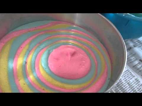 Cara Melapis Kek Karamel.