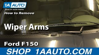 How To Remove Install Wiper Arms 2004-08 Ford F150