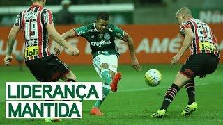 Confira os principais lances da vitória do líder do Brasileirão no clássico: Palmeiras 2 x 1 São Paulo. -------------------- Assine o...