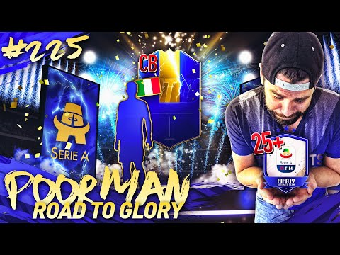 25x 81+ UPGRADE SERIE A TOTS PACKS!!!! - POOR MAN ROAD TO GLORY #225 - FIFA 19 Ultimate Team