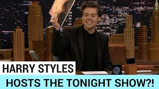Subscribe to Hollywire for The Latest Pop and Music News Updates!  http://bit.ly/Sub2HotMinuteHarry Styles stopsby The Tonight Show with Jimmy Fallonwhilemaking his promotional rounds for Dunkirk… but did he just STEAL Jimmy's job? Check it out on today's Hollywire Hot Minute.Visit our website for all things celebrity  http://www.hollywire.com/Follow Hollywire!  http://bit.ly/TweetHollywireSend Electra a Tweet!  https://twitter.com/electraformosa Follow Electra on Instagram!  https://www.instagram.com/electraformosa