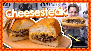 【芝士+肥牛!】🧀️Cheesesteak🧀️費城芝士牛肉三文治 [Eng Sub]