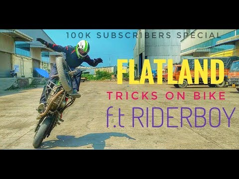 FLATLAND Tricks on BIKE  F.t RIDERBOY