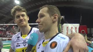 Sir Safety Perugia-Modena Volley 3-1, intervista Holt e Urnaut