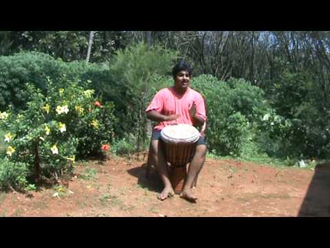 Djembe Practice at Kochahan's house, Idukki, Kerala