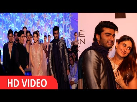 Arjun Kapoor, Jacqueline Fernandez, On Ramp For Manish Malhotra At Opening Show LFW 2016