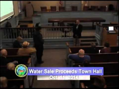 Water Sale Proceeds Town Hall