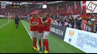 Aras Ozbiliz' Goal (FC Spartak) Vs CSKA Moscow