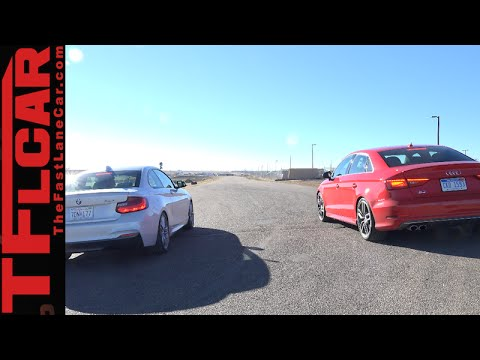 TFL Behind the Scenes of the 2015 Audi S3 vs BMW 228i Drag Race Surprise Result