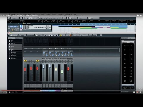 How to Mix in Cubase | Getting Started with Cubase 7