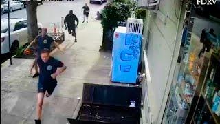 Złodziej napada na kobietę tuż obok budynku straży pożarnej. I to był błąd.