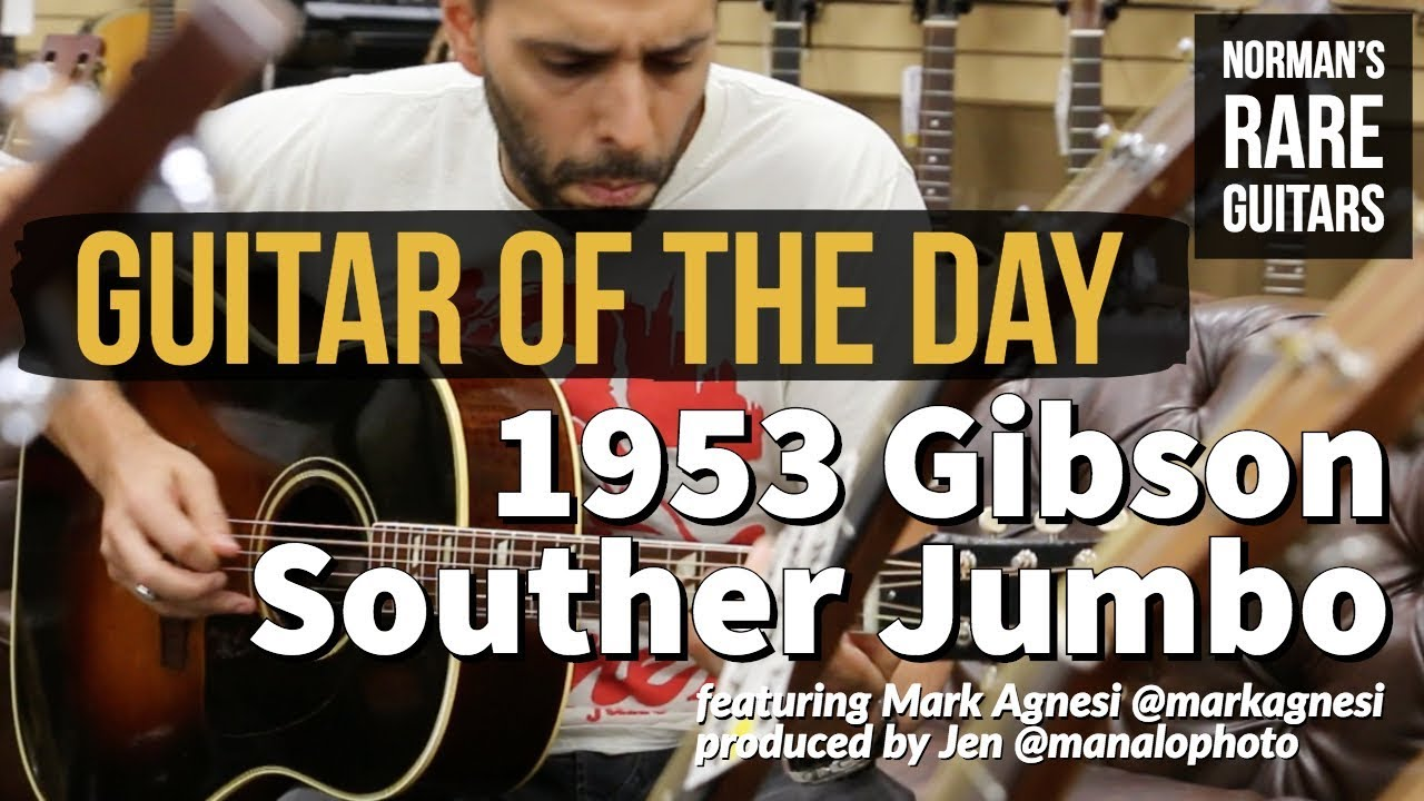 Guitar of the Day: 1953 Gibson Souther Jumbo | Norman's Rare Guitars