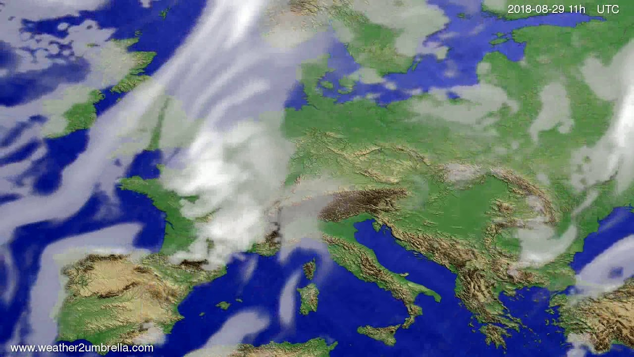 Cloud forecast Europe 2018-08-26
